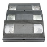 Videotape isolata su bianco Fotografia Stock