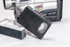 Videotape. VHS videocassette old sample on white background Stock Photography