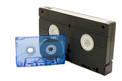 Videotape on white background Stock Photos