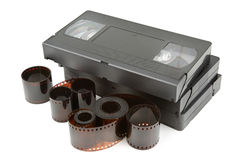 Videotapes and film Royalty Free Stock Photos
