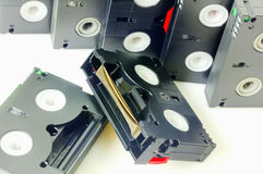 Videotapes isolated Stock Images
