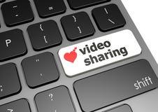 Videoteilen Lizenzfreie Stockfotografie