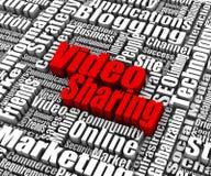 Videoteilen lizenzfreie abbildung