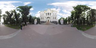 videotempel 360 in Victory Square Kharkov Ukraine stock video