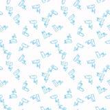 Videotoezicht vector blauw naadloos patroon Royalty-vrije Stock Afbeelding