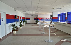 Videoton Football stadium inside main room Royalty Free Stock Photography