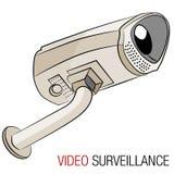 Videoveiligheidscamera Royalty-vrije Stock Afbeeldingen