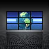 Videowand mit Erde ein Stockfotos