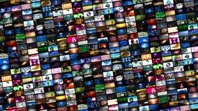 Videowand-Montage (Schleife) stock video footage