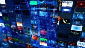Videowand-Technologie-Gitter vektor abbildung