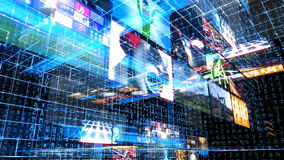 Videowand-Technologie-Matrix vektor abbildung