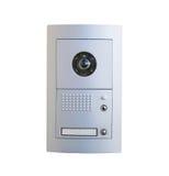 Videowechselsprechanlagenausrüstung auf weißem Hintergrund stockbilder