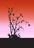 Vides y hojas ilustración del vector
