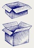 Videz, boîte en carton illustration libre de droits