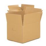 Videz et ouvrez les boîtes sur le fond blanc Photo stock
