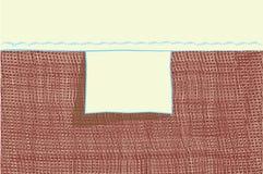 Videz l'étiquette blanc pour le vêtement de loomwork Images libres de droits