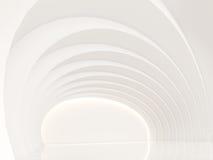 Videz l'image intérieure du rendu 3d de l'espace moderne de pièce blanche Image libre de droits