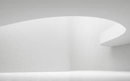 Videz l'image intérieure du rendu 3d de l'espace moderne de pièce blanche Photos stock