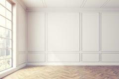 Videz l'intérieur de pièce blanche, fenêtre, lumière illustration stock