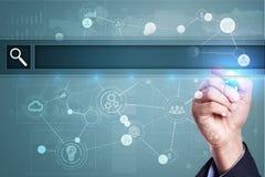 Videz la barre de recherche Site Web, URL Affaires, Internet et concept de technologie photographie stock