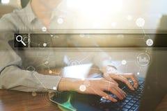 Videz la barre de recherche Site Web, URL Affaires, Internet et concept de technologie images stock