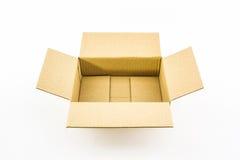 Videz la boîte en carton ondulé ouverte. Photographie stock