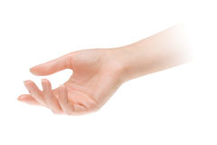 Videz la main ouverte de femme Photo libre de droits