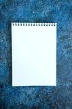 Videz la page du cahier Photos libres de droits