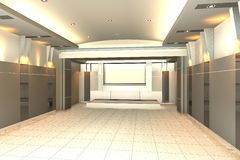 Videz la pièce pour le mur intérieur de couleur de pièce de conférence Photographie stock libre de droits