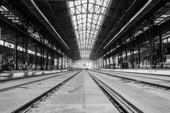Videz le hangar de train Photos libres de droits