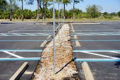 Videz le parking de débronchement Photos libres de droits