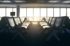Videz le refuge de banc dans l'aéroport Photos libres de droits