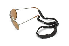 vidfäst kabelmonokelsolglasögon till Arkivbilder
