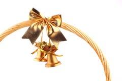 vidfäst klockaG som är guld- till royaltyfria bilder