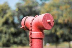 vidfäst var slangen för fallnödlägebrand som förbereds att wall, var Royaltyfri Fotografi