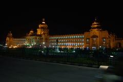 Vidhan Soudha, Bengaluru, Karnataka Indien Royaltyfri Bild