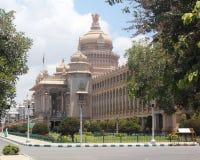vidhana för lopp för bangalore destinationssoudha Arkivbild