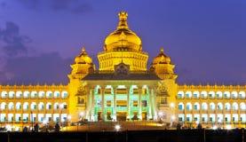 Vidhana Soudha de wetgevende macht van de staat Stock Foto's