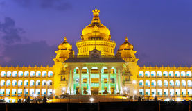 Vidhana Soudha la legislatura statale Fotografie Stock
