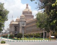 Vidhana Soudha - travel destination of bangalore. Landmark monuments & iconic structures of garden city of bangalore built using granite rocks - Karnataka Stock Photography