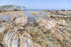 Vidiago beach in Llanes, spain Stock Photo