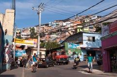 Vidigal Favela in Rio de Janeiro stock afbeelding