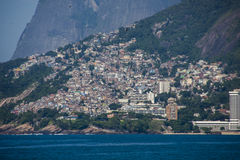 Vidigal slum view from Arpoador Royalty Free Stock Image