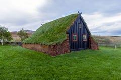 Vidimyri Turf Church in the north of Iceland stock photos
