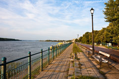 Vidin Riverwalk Royalty Free Stock Photography