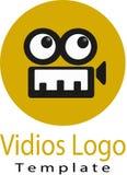 Vidio del vector y logotipo de la plantilla Imagen de archivo libre de regalías