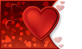 Vidkrytka de coeur Photos libres de droits