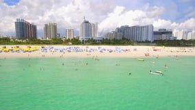 Vidéo aérienne Miami Beach de bourdon banque de vidéos