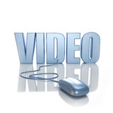 Vidéo en ligne Photos stock