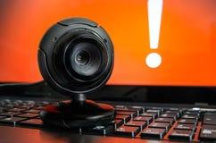 Vidéo surveillance de Web Images stock
